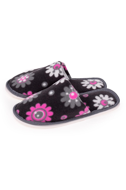 ТапочкиДомашняя обувь<br>Теплые и мягкие домашние тапочки подарят не только комфорт, но и отличное настроение после трудового дня.   В изделии использованы цвета: черный. серый, белый<br><br>По рисунку: Растительные мотивы,Цветные,Цветочные,С принтом<br>По форме: Тапочки<br>По сезону: Всесезон<br>Размер : 35-36,36-37<br>Материал: Флис<br>Количество в наличии: 6