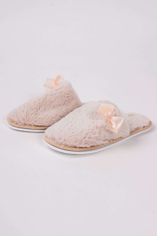 ТапочкиДомашняя обувь<br>Теплые и мягкие домашние тапочки подарят не только комфорт, но и отличное настроение после трудового дня.   В изделии использованы цвета: бежевый<br><br>По материалу: Искусственный мех<br>По рисунку: Однотонные<br>По форме: Тапочки<br>По сезону: Всесезон<br>Размер : 36-37,38-39<br>Материал: Искусственный мех<br>Количество в наличии: 6