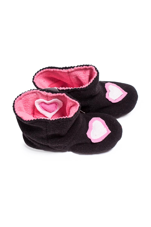 ТапочкиДомашняя обувь<br>Мягкие флисовые тапочки для девочки.  В изделии использованы цвета: черный, розовый<br><br>Размер : 27,30,33<br>Материал: Флис<br>Количество в наличии: 3