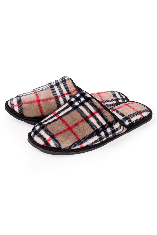 ТапочкиДомашняя обувь<br>Теплые и мягкие домашние тапочки подарят не только комфорт, но и отличное настроение после трудового дня.   В изделии использованы цвета: бежевый и др.<br><br>По сезону: Всесезон<br>Размер : 40-41<br>Материал: Велсофт<br>Количество в наличии: 4