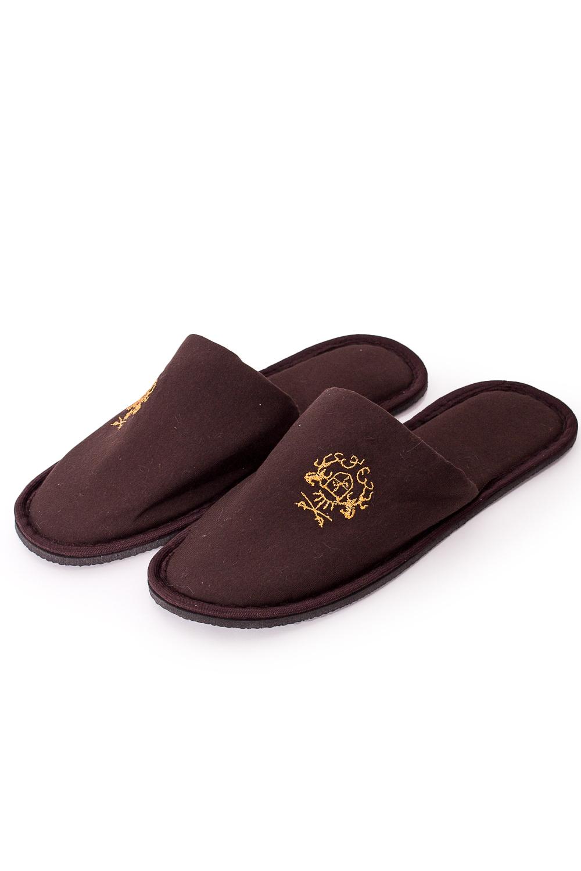 ТапочкиДомашняя обувь<br>Теплые и мягкие домашние тапочки подарят не только комфорт, но и отличное настроение после трудового дня. В изделии использованы цвета: коричневый, желтый<br><br>Размер : 40-41<br>Материал: Трикотаж<br>Количество в наличии: 3