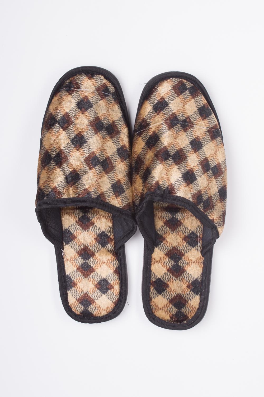 ТапочкиДомашняя обувь<br>Мягкие домашние тапочки подарят не только комфорт, но и отличное настроение после трудового дня.   Цвет: коричневый<br><br>По сезону: Всесезон<br>Размер : 43,44-45<br>Материал: Текстиль<br>Количество в наличии: 2