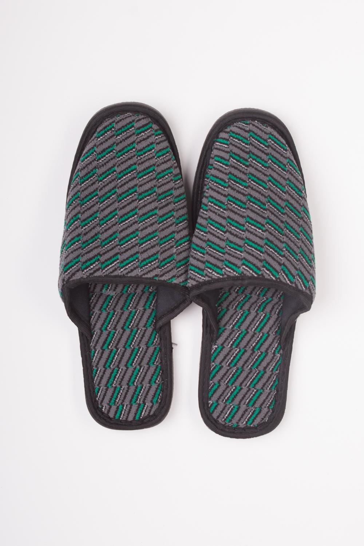 ТапочкиДомашняя обувь<br>Мягкие домашние тапочки подарят не только комфорт, но и отличное настроение после трудового дня.   Цвет: серый, зеленый<br><br>По сезону: Всесезон<br>Размер: 40-41,42<br>Материал: 100% хлопок<br>Количество в наличии: 7