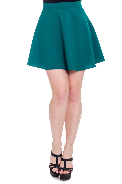 ЮбкаЮбки<br>Ультрамодная юбка с завышенной талией трапециевидного силуэта. Отличный выбор для повседневного гардероба.  Цвет: бирюзовый  Рост девушки-фотомодели 170 см<br><br>По длине: До колена,Мини<br>По материалу: Тканевые<br>По рисунку: Однотонные<br>По силуэту: Полуприталенные<br>По стилю: Молодежный стиль,Ультрамодный стиль<br>По элементам: С завышенной талией<br>По сезону: Осень,Весна<br>Размер : 44,46,48<br>Материал: Костюмно-плательная ткань<br>Количество в наличии: 3