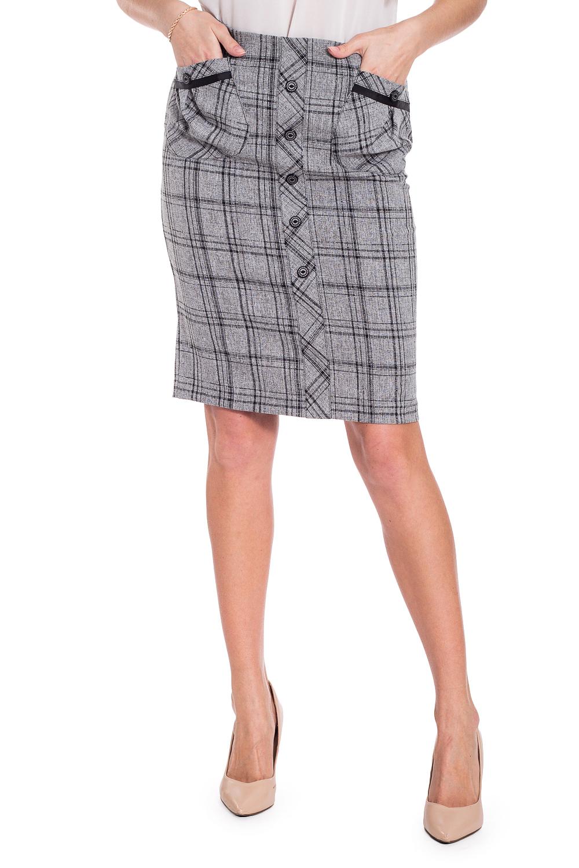 ЮбкаЮбки<br>Универсальная юбка длиной до колена. Модель выполнена из приятного материала. Отличный выбор для любого случая.  В изделии использованы цвета: серый, черный  Рост девушки-фотомодели 170 см<br><br>По длине: До колена<br>По материалу: Костюмные ткани,Тканевые<br>По рисунку: В клетку,С принтом,Цветные<br>По сезону: Весна,Зима,Лето,Осень,Всесезон<br>По силуэту: Приталенные<br>По стилю: Классический стиль,Офисный стиль,Повседневный стиль<br>По форме: Юбка-карандаш<br>По элементам: С декором,С карманами,С разрезом<br>Разрез: Короткий<br>Размер : 42,44,46,48,50,52<br>Материал: Костюмная ткань<br>Количество в наличии: 6