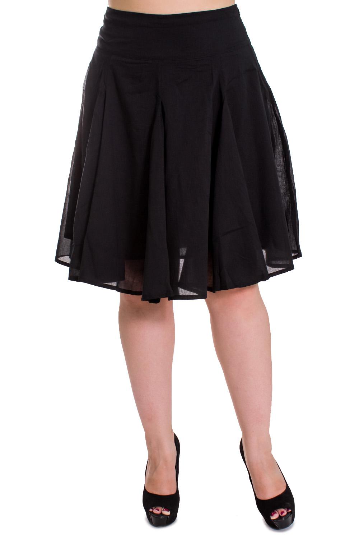 ЮбкаЮбки<br>Женская юбка из хлопкового материала. Отличный выбор для повседневного гардероба.  Цвет: черный  Рост девушки-фотомодели 169 см.<br><br>По рисунку: Однотонные<br>По сезону: Лето<br>По силуэту: Полуприталенные<br>По материалу: Хлопок<br>По стилю: Летний стиль,Молодежный стиль,Повседневный стиль<br>По длине: Ниже колена<br>По форме: Юбка-трапеция<br>Размер : 48<br>Материал: Хлопок<br>Количество в наличии: 6