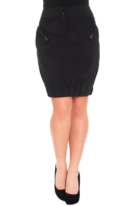 ЮбкаЮбки<br>Красивая женская юбка из плотной костюмной ткани. Отличный выбор для повседневного и делового гардероба.  Цвет: темно-синий  Рост девушки-фотомодели 170 см<br><br>По длине: До колена<br>По материалу: Тканевые,Хлопок<br>По рисунку: Однотонные<br>По силуэту: Полуприталенные<br>По стилю: Офисный стиль,Повседневный стиль<br>По элементам: С декором,С карманами<br>По форме: Юбка-тюльпан<br>По сезону: Осень,Весна<br>Застежка: С резинкой<br>Размер : 44,56<br>Материал: Костюмно-плательная ткань<br>Количество в наличии: 2