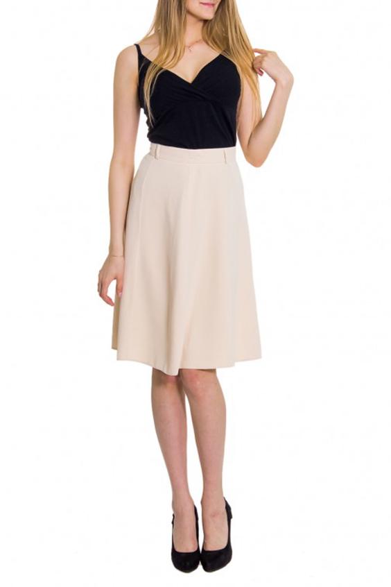 ЮбкаЮбки<br>Женская юбка с высокой талией. Модель выполнена из приятного материала. Отличный выбор для повседневного гардероба.  Цвет: молочный  Рост девушки-фотомодели 176 см<br><br>По длине: До колена<br>По материалу: Вискоза,Тканевые<br>По рисунку: Однотонные<br>По силуэту: Полуприталенные<br>По стилю: Молодежный стиль,Повседневный стиль<br>По форме: Юбка-солнце<br>По сезону: Осень,Весна<br>Размер : 44,46<br>Материал: Костюмная ткань<br>Количество в наличии: 4