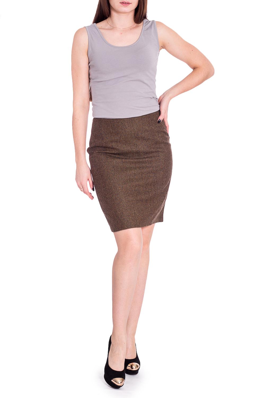 ЮбкаЮбки<br>Строгая лаконичная юбка карандаш плотного облегания, из эластичной костюмной ткани, длиной выше колена. Верх юбки на обтачке. Сзади шлица и застежка на потайную молнию.   Длина юбки 50 – 53 см  Цвет: коричневый  Рост девушки-фотомодели 170 см.<br><br>Застежка: С молнией<br>По длине: До колена<br>По материалу: Костюмные ткани,Тканевые<br>По образу: Город,Офис<br>По рисунку: Однотонные<br>По сезону: Весна,Зима,Лето,Осень,Всесезон<br>По силуэту: Приталенные<br>По стилю: Классический стиль,Офисный стиль,Повседневный стиль<br>По форме: Юбка-карандаш<br>По элементам: С разрезом<br>Разрез: Короткий,Шлица<br>Размер : 44<br>Материал: Костюмная ткань<br>Количество в наличии: 1