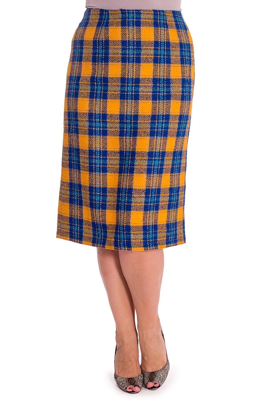 ЮбкаЮбки<br>Удлиненная женская юбка из костюмной ткани с добавлением шерсти. Модель станет прекрасной составляющей Вашего повседневного гардероба. Ростовка изделия 164 см.  В изделии использованы цвета: синий, желтый  Рост девушки-фотомодели 180 см<br><br>По длине: Ниже колена<br>По материалу: Костюмные ткани,Тканевые,Шерсть<br>По рисунку: В клетку,С принтом,Цветные<br>По силуэту: Полуприталенные<br>По форме: Юбка-карандаш<br>По элементам: С разрезом<br>Разрез: Короткий,Шлица<br>По сезону: Зима<br>Размер : 48,50<br>Материал: Костюмная ткань<br>Количество в наличии: 2