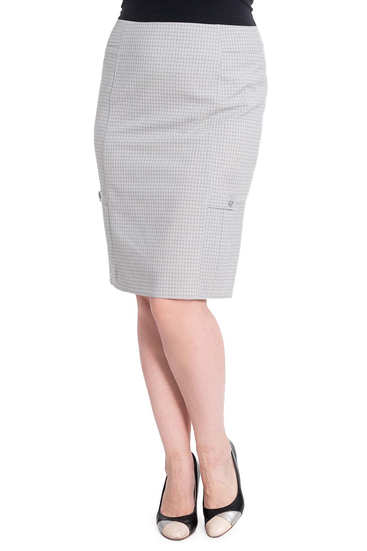 ЮбкаЮбки<br>Удобная женская юбка длиной ниже колена. Модель выполнена из приятного материала. Отличный выбор для любого случая.  Ростовка изделия 164-170 см.  В изделии использованы цвета: светло-серый  Рост девушки-фотомодели 180 см<br><br>По длине: Ниже колена<br>По материалу: Костюмные ткани,Тканевые<br>По рисунку: С принтом<br>По сезону: Весна,Зима,Лето,Осень,Всесезон<br>По силуэту: Приталенные<br>По стилю: Классический стиль,Офисный стиль,Повседневный стиль<br>По элементам: С декором<br>Размер : 52,54<br>Материал: Костюмно-плательная ткань<br>Количество в наличии: 4