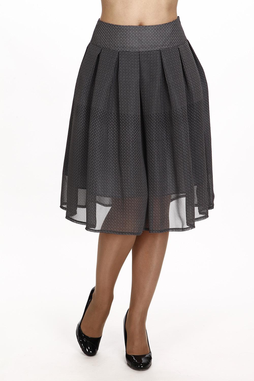 ЮбкаЮбки<br>Красивая юбка с завышенной талией. Модель выполнена из воздушного шифона. Отличный выбор для любого случая.  В изделии использованы цвета: серый  Рост девушки-фотомодели 180 см.<br><br>По длине: До колена<br>По материалу: Вискоза,Шифон<br>По рисунку: С принтом<br>По сезону: Лето,Осень,Весна<br>По силуэту: Полуприталенные<br>По стилю: Повседневный стиль<br>По форме: Юбка-трапеция<br>По элементам: С завышенной талией,С подкладом,Со складками<br>Размер : 44,48,50<br>Материал: Шифон<br>Количество в наличии: 3