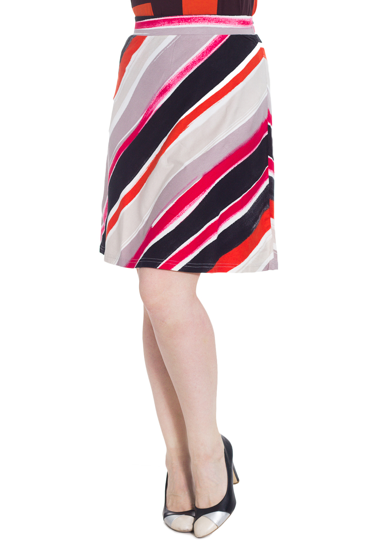 ЮбкаЮбки<br>Удобная юбка длиной до колена. Модель выполнена из приятного материала. Отличный выбор для повседневного гардероба.  В изделии использованы цвета: серый, розовый и др.  Рост девушки-фотомодели 180 см<br><br>По длине: До колена<br>По материалу: Вискоза<br>По рисунку: В полоску,С принтом,Цветные<br>По силуэту: Полуприталенные<br>По стилю: Повседневный стиль<br>По форме: Юбка-трапеция<br>По сезону: Осень,Весна<br>Размер : 46,48<br>Материал: Вискоза<br>Количество в наличии: 2