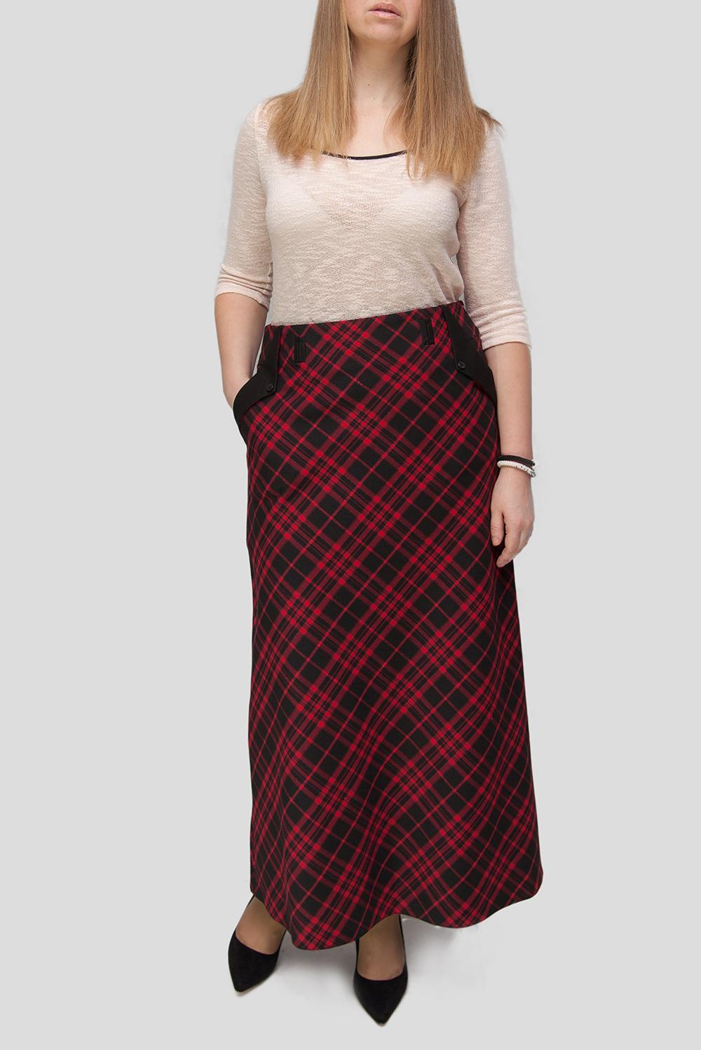 ЮбкаЮбки<br>Цветная юбка из приятного материала. Наличие эластана в составе ткани обеспечивает свободу движений. Отличный выбор для повседневного и делового гардероба. Ткань - плотная костюмная, характеризующаяся эластичностью, растяжимостью и мягкостью. Юбка без пояса.  В изделии использованы цвета: красный, черный  Параметры размеров: 44 размер - обхват груди 84 см., обхват талии 72 см., обхват бедер 97 см. 46 размер - обхват груди 92 см., обхват талии 76 см., обхват бедер 100 см. 48 размер - обхват груди 96 см., обхват талии 80 см., обхват бедер 103 см. 50 размер - обхват груди 100 см., обхват талии 84 см., обхват бедер 106 см. 52 размер - обхват груди 104 см., обхват талии 88 см., обхват бедер 109 см. 54 размер - обхват груди 110 см., обхват талии 94,5 см., обхват бедер 114 см. 56 размер - обхват груди 116 см., обхват талии 101 см., обхват бедер 119 см. 58 размер - обхват груди 122 см., обхват талии 107,5 см., обхват бедер 124 см. 60 размер - обхват груди 128 см., обхват талии 114 см., обхват бедер 129 см.  Ростовка изделия 168 см.<br><br>По длине: Макси<br>По материалу: Костюмные ткани<br>По рисунку: В клетку,С принтом,Цветные<br>По сезону: Зима,Осень,Весна<br>По силуэту: Прямые<br>По стилю: Повседневный стиль<br>По форме: Юбка-трапеция<br>По элементам: С декором,С карманами<br>Размер : 44,46,48<br>Материал: Костюмная ткань<br>Количество в наличии: 4