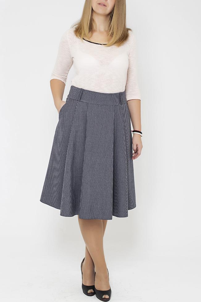 ЮбкаЮбки<br>Цветная юбка из приятного материала. Наличие эластана в составе ткани обеспечивает свободу движений. Отличный выбор для повседневного и делового гардероба. Ткань - плотный трикотаж, характеризующийся эластичностью, растяжимостью и мягкостью.  В изделии использованы цвета: черный, белый  Параметры размеров: 44 размер - обхват груди 84 см., обхват талии 72 см., обхват бедер 97 см. 46 размер - обхват груди 92 см., обхват талии 76 см., обхват бедер 100 см. 48 размер - обхват груди 96 см., обхват талии 80 см., обхват бедер 103 см. 50 размер - обхват груди 100 см., обхват талии 84 см., обхват бедер 106 см. 52 размер - обхват груди 104 см., обхват талии 88 см., обхват бедер 109 см. 54 размер - обхват груди 110 см., обхват талии 94,5 см., обхват бедер 114 см. 56 размер - обхват груди 116 см., обхват талии 101 см., обхват бедер 119 см. 58 размер - обхват груди 122 см., обхват талии 107,5 см., обхват бедер 124 см. 60 размер - обхват груди 128 см., обхват талии 114 см., обхват бедер 129 см.  Ростовка изделия 168 см.<br><br>По длине: Ниже колена<br>По материалу: Тканевые,Шерсть<br>По рисунку: С принтом,Цветные<br>По сезону: Зима,Осень,Весна<br>По силуэту: Полуприталенные<br>По стилю: Классический стиль,Офисный стиль,Повседневный стиль<br>По форме: Юбка-трапеция<br>По элементам: С карманами,Со складками<br>Размер : 44<br>Материал: Костюмная ткань<br>Количество в наличии: 1