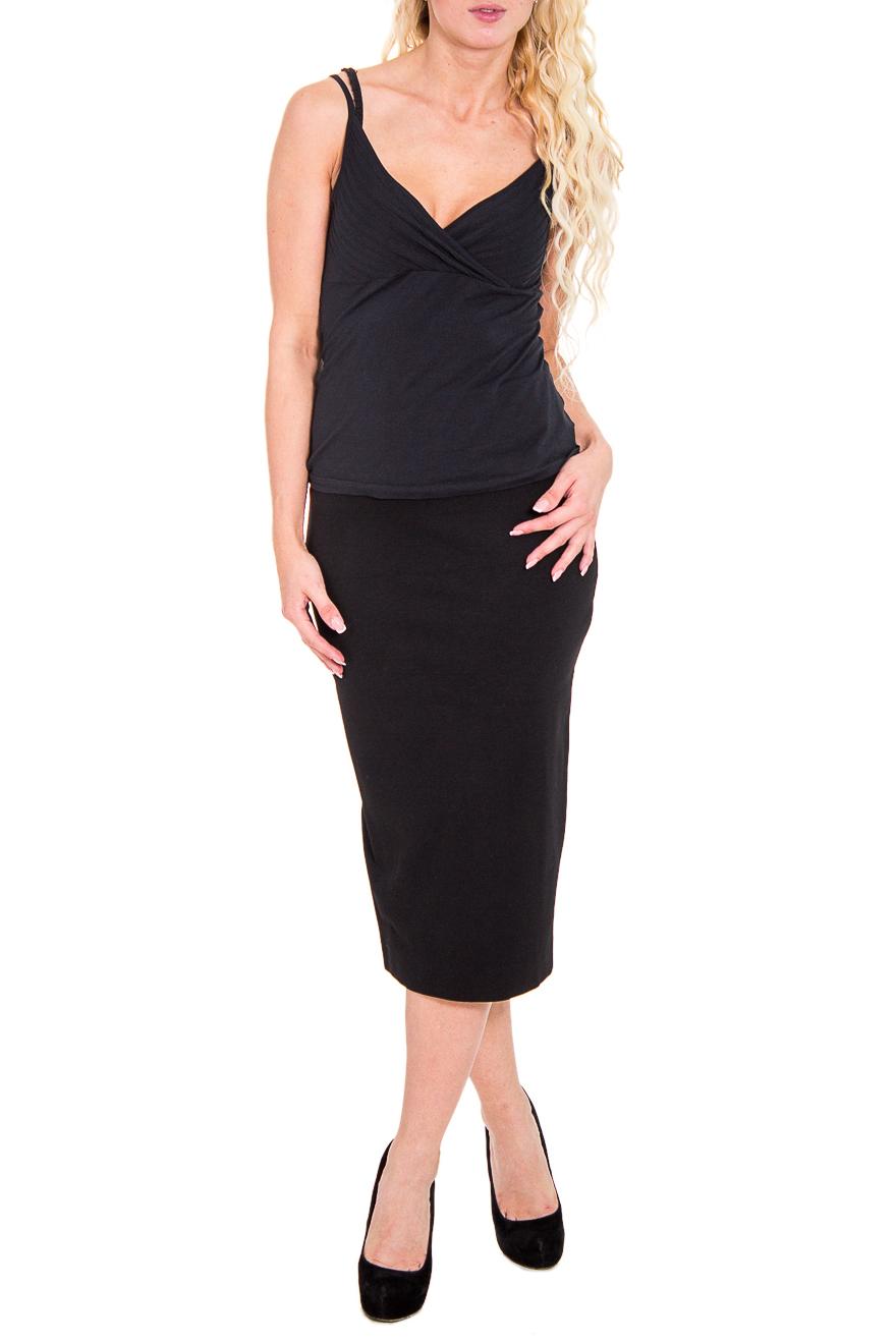 ЮбкаЮбки<br>Прекрасная женская юбка обтягивающего силуэта. Модель выполнена из мягкой вискозы. Отличный выбор для любого случая.  Цвет: черный  Рост девушки-фотомодели 170 см<br><br>По длине: Миди<br>По рисунку: Однотонные<br>По сезону: Весна,Осень<br>По силуэту: Обтягивающие<br>По форме: Юбка-карандаш<br>По материалу: Трикотаж<br>По стилю: Офисный стиль,Повседневный стиль<br>Размер : 42,44,46<br>Материал: Вискоза<br>Количество в наличии: 4
