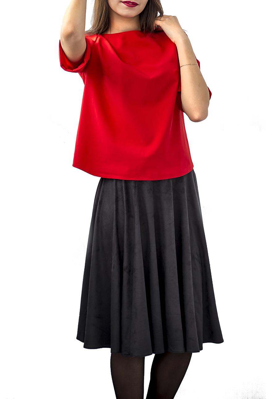 ЮбкаЮбки<br>Однотонная юбка с завышенной талией. Модель выполнена из мягкой замши. Отличный выбор для повседневного гардероба.Цвет: черныйРостовка изделия 168 см.Юбка при стирке может линять, но цвет изделия не меняется.<br><br>Материал: Замша<br>Рисунок: Однотонные<br>Сезон: Весна,Зима,Осень<br>Силуэт: Полуприталенные<br>Стиль: Классический стиль,Кэжуал,Офисный стиль,Повседневный стиль<br>Форма: Юбка-трапеция<br>Элементы: С завышенной талией<br>Длина: Ниже колена<br>Размер : 42,44,46,48<br>Материал: Искусственная замша<br>Количество в наличии: 4