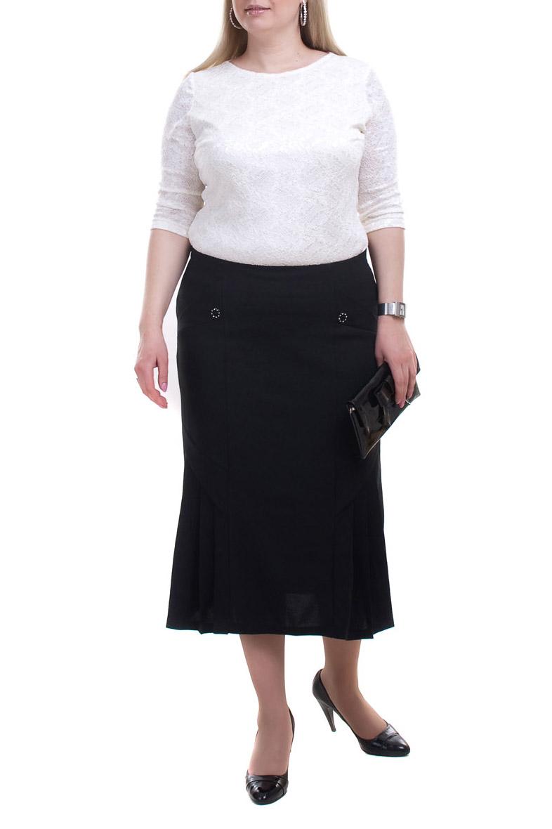 ЮбкаЮбки<br>Красивая женская юбка ниже колена. Модель выполнена из приятного материала. Отличный выбор для любого случая.Цвет: черныйРост девушки-фотомодели 173 см.Параметры изделия в размере 54:Обхват талии 100 смДлина изделия 78 см.<br><br>Длина: Миди,Ниже колена<br>Материал: Трикотаж<br>Рисунок: Однотонные<br>Сезон: Весна,Всесезон,Зима,Лето,Осень<br>Силуэт: Полуприталенные<br>Стиль: Классический стиль,Офисный стиль,Повседневный стиль<br>Элементы: С декором<br>Размер : 52,54,56,58,60,62,64,66,68<br>Материал: Трикотаж<br>Количество в наличии: 19