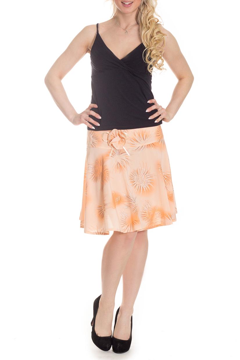 ЮбкаЮбки<br>Великолепная юбка с цветочным принтом. Модель полуприталенного силуэта из приятного материала. Отличный вариант для повседневного гардероба  Цвет: персиковый  Рост девушки-фотомодели 170 см<br><br>По длине: До колена<br>По материалу: Тканевые<br>По рисунку: С принтом,Цветные,Цветочные<br>По силуэту: Полуприталенные<br>По стилю: Повседневный стиль,Летний стиль<br>По форме: Юбка-колокол<br>По сезону: Лето<br>По элементам: С декором<br>Размер : 46<br>Материал: Плательная ткань<br>Количество в наличии: 1