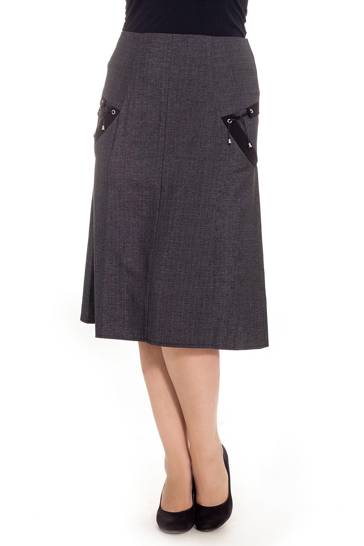 ЮбкаЮбки<br>Классическая женская юбка будет удачно гармонировать с различными элементами гардероба. Застежка - молния.  Цвет: серый.  Рост девушки-фотомодели 180 см<br><br>Застежка: С молнией<br>По длине: Ниже колена<br>По материалу: Костюмные ткани<br>По образу: Город,Офис<br>По рисунку: Однотонные<br>По сезону: Весна,Зима,Лето,Осень,Всесезон<br>По силуэту: Полуприталенные<br>По стилю: Классический стиль,Кэжуал,Офисный стиль,Повседневный стиль<br>По форме: Юбка-трапеция<br>По элементам: С декором<br>Размер : 48<br>Материал: Костюмная ткань<br>Количество в наличии: 1