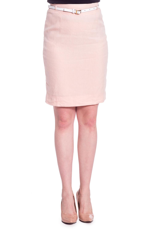 ЮбкаЮбки<br>Однотонная юбка длиной до колена. Модель выполнена из натурального льна. Отличный выбор для повседневного и делового гардероба. Юбка без пояса.  В изделии использованы цвета: светло-розовый  Рост девушки-фотомодели 170 см<br><br>По длине: До колена<br>По материалу: Лен<br>По рисунку: Однотонные<br>По сезону: Весна,Лето<br>По силуэту: Приталенные<br>По стилю: Летний стиль,Офисный стиль,Повседневный стиль,Романтический стиль<br>По форме: Юбка-карандаш<br>По элементам: С завышенной талией,С разрезом<br>Разрез: Короткий,Шлица<br>Размер : 42,44,46,48<br>Материал: Лен<br>Количество в наличии: 4