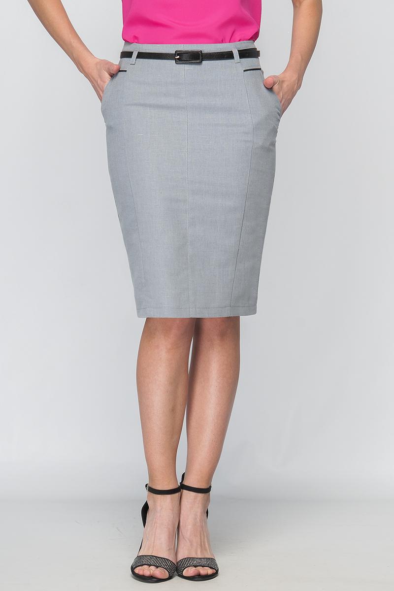 ЮбкаЮбки<br>Классическая юбка-карандаш, выполненная из натурального льна, с подкладом из хлопка. Юбка зауженная к низу, с карманами. Сзади выполнена застежка на потайную молнию. Замечательный выбор для создания оригинального офисного образа.  Юбка без пояса.  Параметры изделия:  44 размер: обхват талии - 70 см, обхват бедер - 96 см, длина изделия - 59 см;  52 размер: обхват талии - 86 см, обхват бедер - 112 см, длина изделия - 63 см.  В изделии использованы цвета: серый  Рост девушки-фотомодели 175 см.<br><br>По длине: Ниже колена<br>По материалу: Лен<br>По рисунку: Однотонные<br>По сезону: Весна,Всесезон,Зима,Осень,Лето<br>По силуэту: Приталенные<br>По стилю: Классический стиль,Офисный стиль,Повседневный стиль<br>По форме: Юбка-карандаш<br>По элементам: С карманами,С разрезом<br>Разрез: Короткий,Шлица<br>Размер : 44,50,54,56,58<br>Материал: Лен<br>Количество в наличии: 5