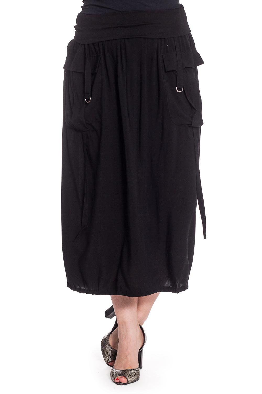 ЮбкаЮбки<br>Однотонная юбка длиной quot;мидиquot; с трикотажной резинкой в поясе. Модель выполнена из мягкой вискозы. Отличный выбор для повседневного гардероба.  В изделии использованы цвета: черный  Рост девушки-фотомодели 180 см<br><br>По длине: Миди,Ниже колена<br>По материалу: Вискоза,Трикотаж<br>По рисунку: Однотонные<br>По сезону: Весна,Зима,Лето,Осень,Всесезон<br>По силуэту: Свободные<br>По стилю: Повседневный стиль<br>По элементам: С декором,С карманами<br>Размер : 48-50,50-52<br>Материал: Вискоза<br>Количество в наличии: 2