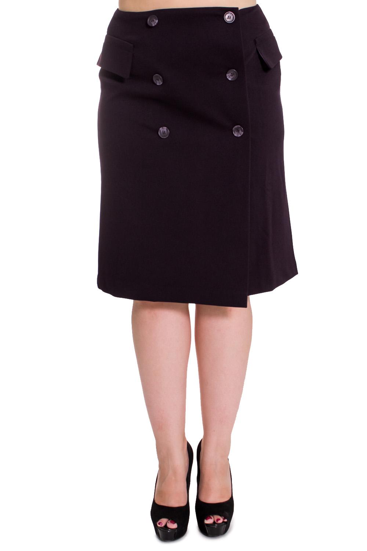 ЮбкаЮбки<br>Привлекательная женская юбка из плотного материала. Отличный выбор для повседневного и делового гардероба.  Цвет: черный  Рост девушки-фотомодели 169 см.<br><br>По материалу: Тканевые<br>По рисунку: Однотонные<br>По сезону: Весна,Осень,Зима,Лето,Всесезон<br>По силуэту: Полуприталенные<br>По стилю: Офисный стиль,Повседневный стиль,Классический стиль<br>По длине: Ниже колена<br>По форме: Юбка-карандаш<br>По элементам: С декором,С отделочной фурнитурой<br>Размер : 44,46,48,50,52<br>Материал: Костюмная ткань<br>Количество в наличии: 34