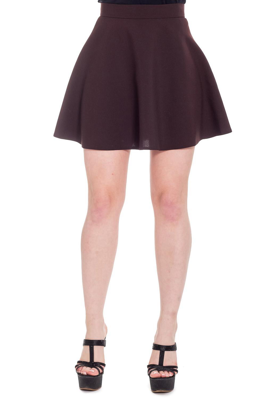 ЮбкаЮбки<br>Ультрамодная юбка с завышенной талией трапециевидного силуэта. Отличный выбор для повседневного гардероба.  Цвет: коричневый  Рост девушки-фотомодели 170 см<br><br>По длине: До колена,Мини<br>По материалу: Тканевые<br>По образу: Город,Свидание<br>По рисунку: Однотонные<br>По силуэту: Полуприталенные<br>По стилю: Молодежный стиль,Ультрамодный стиль<br>По элементам: С завышенной талией<br>По сезону: Осень,Весна<br>Размер : 44,46,48<br>Материал: Костюмно-плательная ткань<br>Количество в наличии: 3
