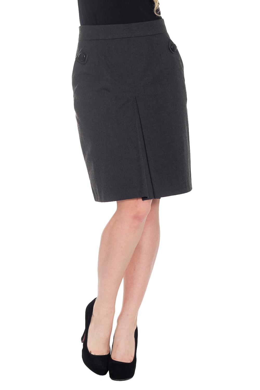 ЮбкаЮбки<br>Элегантная женская юбка. Модель выполнена из костюмной ткани. Застежка - молния. Цвет: серый.  Рост девушки-фотомодели 170 см<br><br>По длине: До колена<br>По материалу: Костюмные ткани<br>По рисунку: Однотонные<br>По сезону: Весна,Зима,Лето,Осень,Всесезон<br>По силуэту: Полуприталенные<br>По стилю: Классический стиль,Кэжуал,Офисный стиль,Повседневный стиль<br>По форме: Юбка-карандаш<br>По элементам: С декором,Со складками<br>Застежка: С молнией<br>Размер : 42<br>Материал: Костюмная ткань<br>Количество в наличии: 1