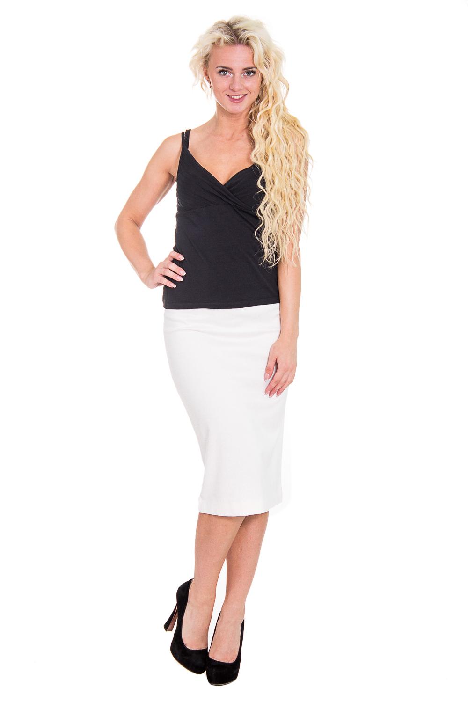 ЮбкаЮбки<br>Прекрасная женская юбка обтягивающего силуэта. Модель выполнена из мягкой вискозы. Отличный выбор для любого случая.  Цвет: белый  Рост девушки-фотомодели 170 см<br><br>По образу: Офис,Свидание,Город<br>По стилю: Повседневный стиль,Офисный стиль<br>По материалу: Трикотаж<br>По рисунку: Однотонные<br>По сезону: Осень,Весна<br>По силуэту: Обтягивающие<br>По форме: Юбка-карандаш<br>По длине: Миди<br>Размер: 46<br>Материал: 95% вискоза 5% лайкра<br>Количество в наличии: 1