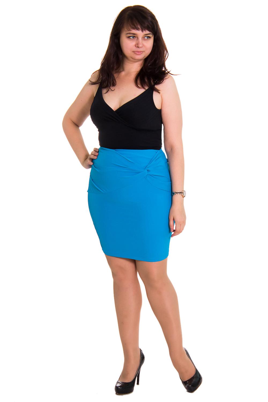ЮбкаЮбки<br>Чудестная женская юбка с декором на переде изделия. Застежка - молния. Цвет: голубой.  Рост девушки-фотомодели 167 см<br><br>По образу: Город,Офис,Свидание<br>По стилю: Летний стиль,Молодежный стиль,Повседневный стиль<br>По материалу: Тканевые<br>По рисунку: Однотонные<br>По сезону: Весна,Лето<br>По силуэту: Обтягивающие,Приталенные<br>По элементам: С отделочной фурнитурой,С молнией,С декором<br>Размер: 42,44,46,48,50<br>Материал: None<br>Количество в наличии: 1