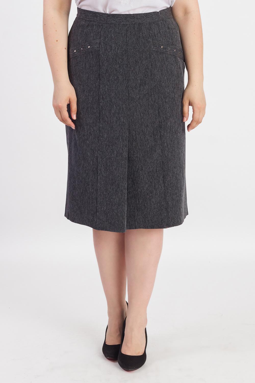 ЮбкаЮбки<br>Классическая женская юбка длиной ниже колена. Модель выполнена из приятного материала. Отличный выбор для повседневного и делового гардероба.   В изделии использованы цвета: темно-серый меланж  Рост девушки-фотомодели 180 см<br><br>По длине: Ниже колена<br>По материалу: Костюмные ткани,Тканевые<br>По рисунку: Однотонные<br>По сезону: Весна,Зима,Лето,Осень,Всесезон<br>По силуэту: Приталенные<br>По стилю: Классический стиль,Офисный стиль,Повседневный стиль<br>По форме: Юбка-карандаш<br>По элементам: С завышенной талией<br>Размер : 50,56<br>Материал: Костюмная ткань<br>Количество в наличии: 2