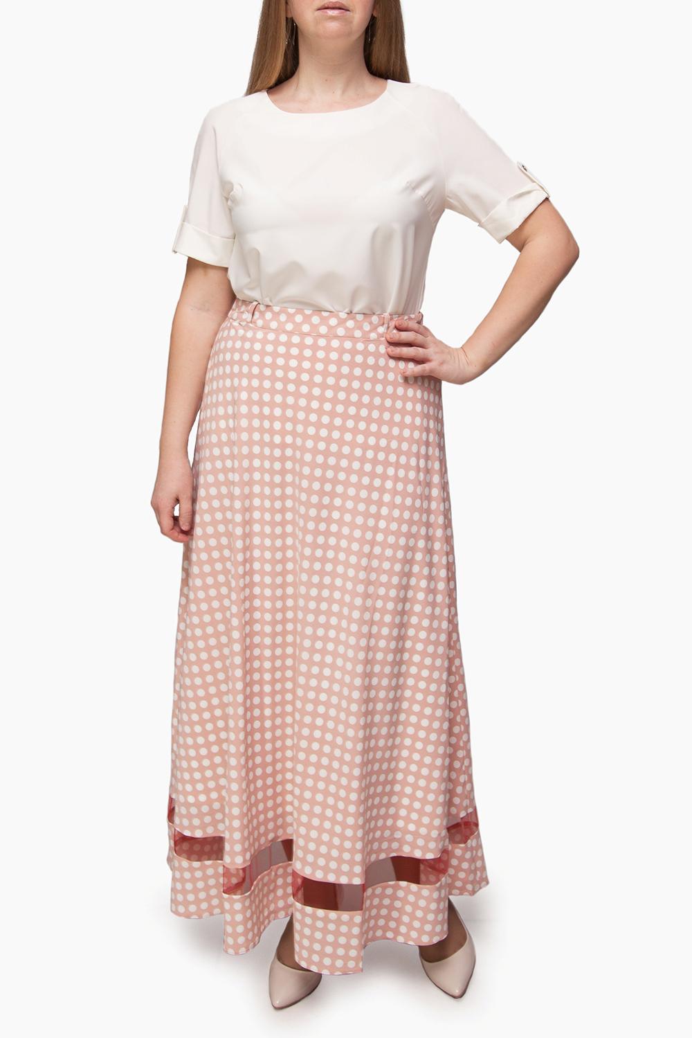 ЮбкаЮбки<br>Цветная юбка quot;максиquot; с завышенной талией. Модель выполнена из приятного материала. Отличный выбор для повседневного гардероба.  Изделие маломерит на 1 размер.  В изделии использованы цвета: розовый, белый  Ростовка изделия 170 см.<br><br>По длине: Макси<br>По материалу: Тканевые<br>По рисунку: В горошек,С принтом,Цветные<br>По силуэту: Полуприталенные<br>По стилю: Нарядный стиль,Повседневный стиль<br>По форме: Юбка-трапеция<br>По элементам: С декором,С завышенной талией<br>По сезону: Лето<br>Размер : 42,44,46,48,50,52<br>Материал: Плательная ткань<br>Количество в наличии: 12