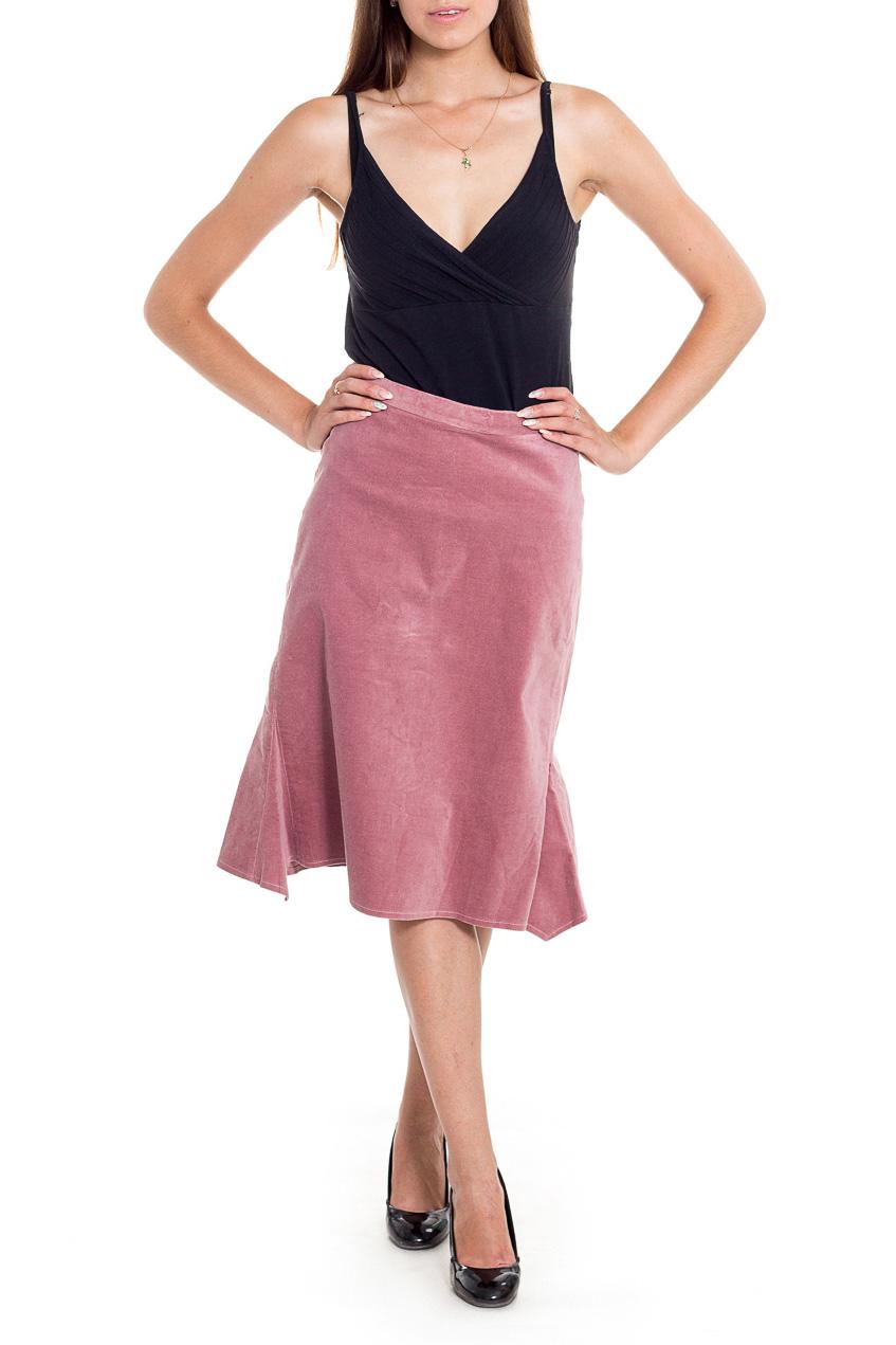 ЮбкаЮбки<br>Однотонная юбка длиной ниже колена. Модель выполнена из приятного материала. Отличный выбор повседневного гардероба.  Цвет: розовый  Рост девушки-фотомодели 170 см.<br><br>По длине: Ниже колена<br>По образу: Город<br>По рисунку: Однотонные<br>По силуэту: Полуприталенные<br>По стилю: Повседневный стиль<br>По форме: Юбка-годе<br>По элементам: С завышенной талией<br>По сезону: Осень,Весна<br>Размер : 44,46<br>Материал: Вельвет<br>Количество в наличии: 2