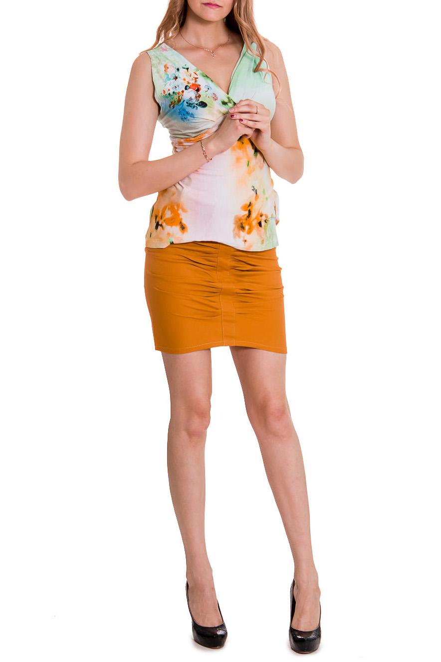 ЮбкаЮбки<br>Женская юбка из хлопкового материала. Отличный выбор для повседневного гардероба Юбка с поясом  Цвет: горчичный  Рост девушки-фотомодели 176 см.<br><br>По рисунку: Однотонные<br>По сезону: Лето<br>По форме: Юбка-карандаш<br>По элементам: С декором<br>По материалу: Хлопок<br>По стилю: Летний стиль,Повседневный стиль<br>По длине: До колена<br>По силуэту: Приталенные<br>Размер : 42<br>Материал: Хлопок<br>Количество в наличии: 1