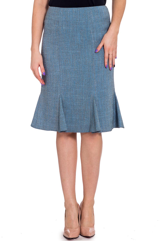 ЮбкаЮбки<br>Комфортная юбка из плотного, хорошо держащего форму материала — прекрасный вариант на каждый день. Благодаря декоративным разрезам по подолу, она очень удобна.  Цвет: голубой  Рост девушки-фотомодели 173 см<br><br>По длине: Ниже колена<br>По материалу: Костюмные ткани,Хлопок<br>По рисунку: Однотонные<br>По сезону: Весна,Осень,Всесезон<br>По силуэту: Полуприталенные<br>По стилю: Повседневный стиль<br>По форме: Юбка-годе<br>По элементам: С завышенной талией<br>Размер : 46<br>Материал: Костюмная ткань<br>Количество в наличии: 1