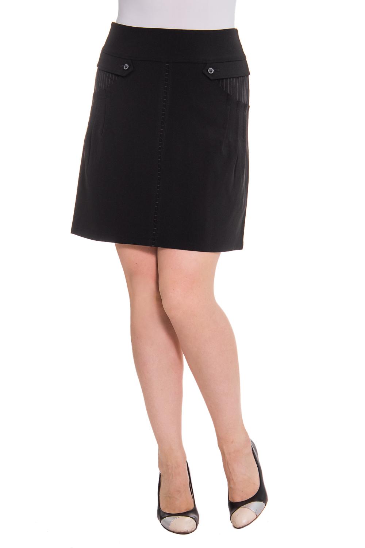 ЮбкаЮбки<br>Женская юбка из плотной костюмной ткани. Отличный вариант для повседневного и делового гардероба.  Цвет: черный  Рост девушки-фотомодели 180 см<br><br>По материалу: Тканевые<br>По рисунку: Однотонные<br>По сезону: Весна,Осень,Зима,Лето,Всесезон<br>По силуэту: Полуприталенные<br>По стилю: Офисный стиль,Повседневный стиль<br>По длине: До колена<br>По форме: Юбка-трапеция<br>По элементам: С декором,С карманами<br>Размер : 48<br>Материал: Костюмная ткань<br>Количество в наличии: 1