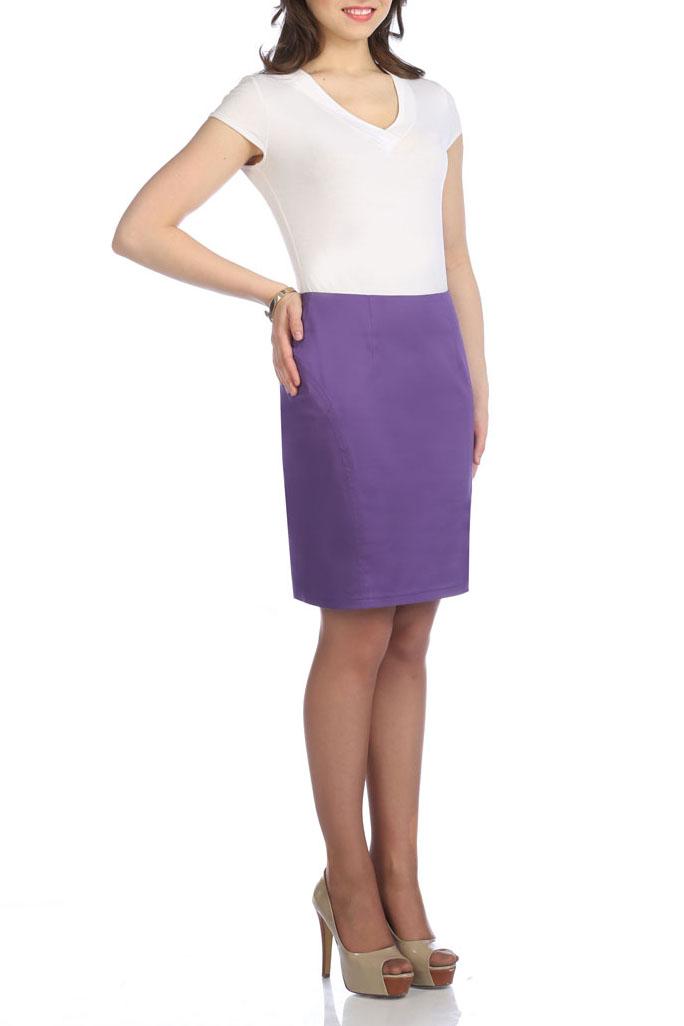 ЮбкаЮбки<br>Женская юбка из плотной костюмной ткани. Отличный вариант для повседневного и делового гардероба.  Цвет: фиолетовый<br><br>По материалу: Тканевые,Костюмные ткани<br>По рисунку: Однотонные<br>По сезону: Весна,Осень,Зима,Лето,Всесезон<br>По силуэту: Полуприталенные<br>Разрез: Шлица,Короткий<br>По стилю: Повседневный стиль<br>По длине: До колена<br>По форме: Юбка-карандаш<br>По элементам: С разрезом<br>Размер : 42,44<br>Материал: Костюмная ткань<br>Количество в наличии: 5