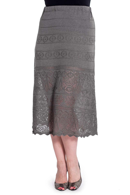ЮбкаЮбки<br>Однотонная юбка с ажурным подолом. Вязаный трикотаж - это красота, тепло и комфорт. В вязаных вещах очень легко оставаться женственной и в то же время не замёрзнуть. Ростовка изделия 164 см.  В изделии использованы цвета: серый  Рост девушки-фотомодели 180 см.<br><br>Застежка: С резинкой<br>По длине: Миди<br>По материалу: Вязаные,Трикотаж<br>По рисунку: Однотонные<br>По сезону: Весна,Зима,Лето,Осень,Всесезон<br>По силуэту: Полуприталенные<br>По стилю: Повседневный стиль<br>По элементам: С декором<br>Размер : 54<br>Материал: Вязаное полотно<br>Количество в наличии: 1