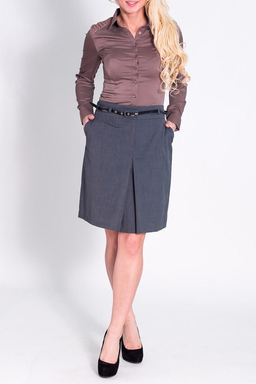 ЮбкаЮбки<br>Красивая юбка из плотного материала. Отличный выбор для повседневного и делового гардероба. Юбка дополнена поясом.  Цвет: серый  Рост девушки-фотомодели 170 см<br><br>По длине: До колена<br>По материалу: Костюмные ткани<br>По рисунку: Однотонные<br>По сезону: Весна,Осень<br>По силуэту: Свободные<br>По стилю: Офисный стиль,Повседневный стиль<br>По форме: Юбка-колокол<br>По элементам: Со складками<br>Размер : 40<br>Материал: Костюмно-плательная ткань<br>Количество в наличии: 1