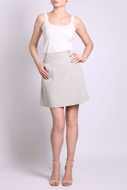Юбка юбка leticia milano серый 44 46 размер