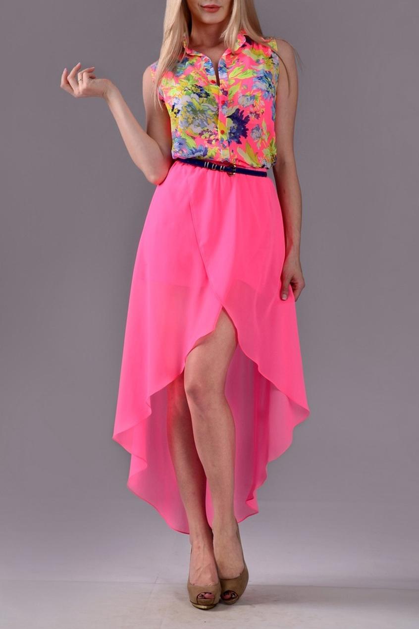 ЮбкаЮбки<br>Очаровательная юбка с асимметричным низом поможет создать Ваш романтичный образ. Пояс в комплект не входит.  Цвет: розовый.  Рост девушки-фотомодели 170 см<br><br>По материалу: Шифон<br>По рисунку: Однотонные<br>По стилю: Летний стиль,Молодежный стиль,Ультрамодный стиль,Повседневный стиль<br>По элементам: С фигурным низом,С подкладом,Со шлейфом<br>По сезону: Лето<br>По длине: До колена<br>По силуэту: Полуприталенные<br>По форме: Юбка-трапеция<br>Размер : 42,44<br>Материал: Шифон<br>Количество в наличии: 2