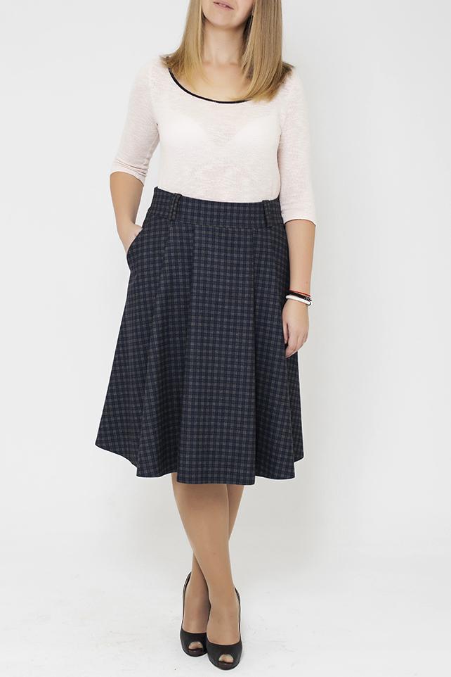 ЮбкаЮбки<br>Цветная юбка из приятного материала. Наличие эластана в составе ткани обеспечивает свободу движений. Отличный выбор для повседневного и делового гардероба. Ткань - плотный трикотаж, характеризующийся эластичностью, растяжимостью и мягкостью.  В изделии использованы цвета: серый, синий  Параметры размеров: 44 размер - обхват груди 84 см., обхват талии 72 см., обхват бедер 97 см. 46 размер - обхват груди 92 см., обхват талии 76 см., обхват бедер 100 см. 48 размер - обхват груди 96 см., обхват талии 80 см., обхват бедер 103 см. 50 размер - обхват груди 100 см., обхват талии 84 см., обхват бедер 106 см. 52 размер - обхват груди 104 см., обхват талии 88 см., обхват бедер 109 см. 54 размер - обхват груди 110 см., обхват талии 94,5 см., обхват бедер 114 см. 56 размер - обхват груди 116 см., обхват талии 101 см., обхват бедер 119 см. 58 размер - обхват груди 122 см., обхват талии 107,5 см., обхват бедер 124 см. 60 размер - обхват груди 128 см., обхват талии 114 см., обхват бедер 129 см.  Ростовка изделия 168 см.<br><br>По длине: Ниже колена<br>По материалу: Тканевые,Шерсть<br>По образу: Город,Офис<br>По рисунку: С принтом,Цветные,В клетку<br>По сезону: Зима,Осень,Весна<br>По силуэту: Полуприталенные<br>По стилю: Классический стиль,Офисный стиль,Повседневный стиль<br>По форме: Юбка-трапеция<br>По элементам: С карманами,Со складками<br>Размер : 46<br>Материал: Костюмная ткань<br>Количество в наличии: 1