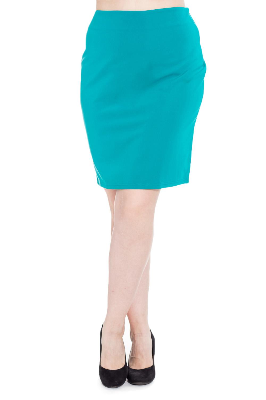 ЮбкаЮбки<br>Прелестная женская юбка из приятного к телу трикотажа. Модель будет удачно гармонировать с различными элементами гардероба.  Цвет: бирюзовый.  Рост девушки-фотомодели 180 см<br><br>По длине: До колена<br>По материалу: Трикотаж,Хлопок<br>По рисунку: Однотонные<br>По сезону: Весна,Зима,Лето,Осень,Всесезон<br>По силуэту: Полуприталенные,Приталенные<br>По стилю: Кэжуал,Офисный стиль,Повседневный стиль,Летний стиль<br>По форме: Юбка-карандаш<br>Размер : 42,50<br>Материал: Трикотаж<br>Количество в наличии: 3