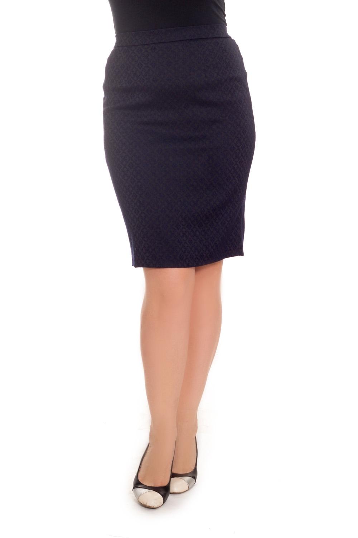 ЮбкаЮбки<br>Классическая женская юбка длиной до колена. Модель выполнена из плотного материала. Отличный выбор для повседневного и делового гардероба.  Цвет: синий  Рост девушки-фотомодели 180 см<br><br>Застежка: С молнией,С пуговицами<br>По длине: До колена<br>По материалу: Тканевые<br>По рисунку: Однотонные,С принтом<br>По силуэту: Приталенные<br>По стилю: Классический стиль,Офисный стиль,Повседневный стиль<br>По форме: Юбка-карандаш<br>По элементам: С разрезом<br>Разрез: Короткий,Шлица<br>По сезону: Осень,Весна<br>Размер : 48,50,52,54<br>Материал: Костюмно-плательная ткань<br>Количество в наличии: 11