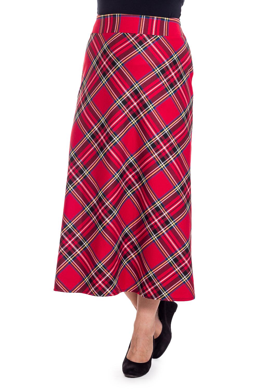 ЮбкаЮбки<br>Стильная юбка, из красивой ткани, отличного качества. Модель на подкладе.  Длина по боковому шву 95 см  В изделии использованы цвета: красный, белый, черный и др.  Рост девушки-фотомодели 180 см<br><br>По длине: Макси,Миди<br>По материалу: Вискоза,Тканевые<br>По рисунку: Геометрия,С принтом,Цветные,В клетку<br>По силуэту: Полуприталенные<br>По стилю: Повседневный стиль<br>По форме: Юбка-трапеция<br>По элементам: С завышенной талией<br>По сезону: Осень,Весна<br>Размер : 44,46,48,50,52,56<br>Материал: Костюмная ткань<br>Количество в наличии: 6