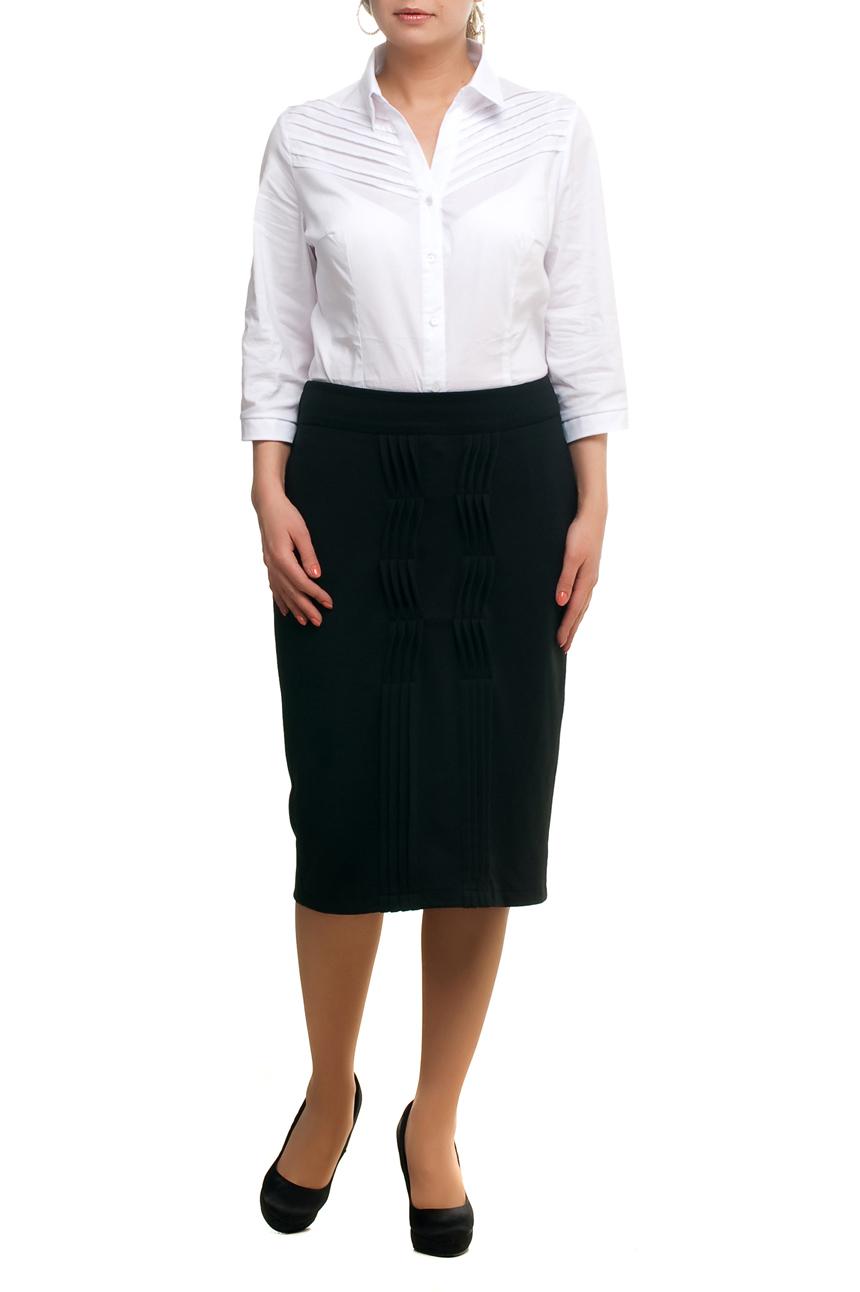 ЮбкаЮбки<br>Красивая юбка quot;карандашquot; ниже колена. Модель выполнена из мягкого трикотажа. Отличный выбор для повседневного и делового гардероба.  В изделии использованы цвета: черный  Рост девушки-фотомодели 173 см<br><br>По длине: Ниже колена<br>По материалу: Трикотаж<br>По рисунку: Однотонные<br>По сезону: Весна,Зима,Лето,Осень,Всесезон<br>По силуэту: Приталенные<br>По стилю: Офисный стиль,Повседневный стиль<br>По форме: Юбка-карандаш<br>По элементам: С декором<br>Размер : 48,50,52,54,56,58,60,66,68<br>Материал: Трикотаж<br>Количество в наличии: 15