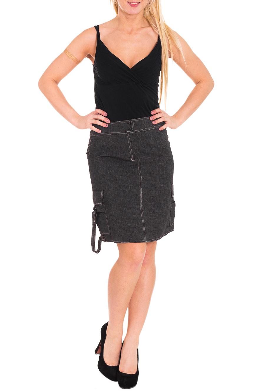 ЮбкаЮбки<br>Красивая женская юбка из плотной костюмной ткани. Отличный выбор для повседневного и делового гардероба.  Цвет: серый  Рост девушки-фотомодели 170 см<br><br>По длине: До колена<br>По материалу: Вискоза,Костюмные ткани,Тканевые<br>По рисунку: Однотонные<br>По силуэту: Полуприталенные<br>По стилю: Молодежный стиль,Повседневный стиль<br>По элементам: С декором,С карманами<br>По сезону: Осень,Весна<br>Размер : 44<br>Материал: Костюмно-плательная ткань<br>Количество в наличии: 1