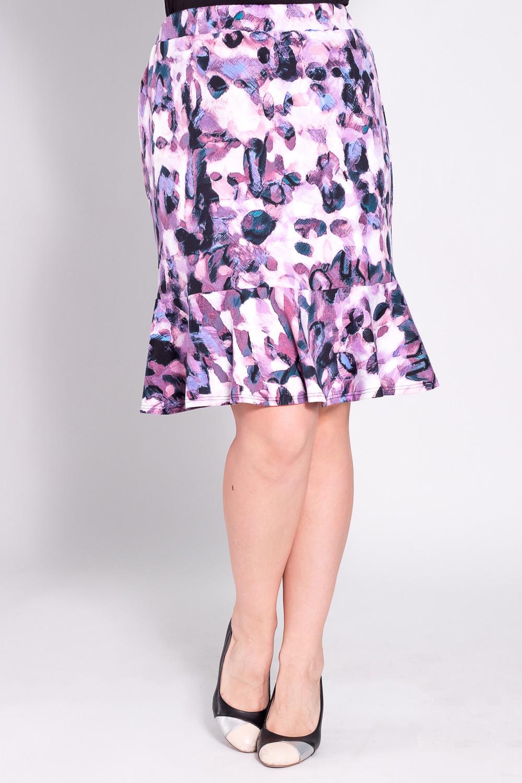 ЮбкаЮбки<br>Замечательная юбка из плотного трикотажа. Отличный выбор для повседневного гардероба.  Цвет: белый, розовый, фиолетовый, синий  Рост девушки-фотомодели 180 см<br><br>По длине: Ниже колена<br>По материалу: Трикотаж<br>По образу: Город,Свидание<br>По рисунку: Цветные,С принтом<br>По сезону: Весна,Осень<br>По стилю: Повседневный стиль<br>По форме: Юбка-годе<br>По силуэту: Приталенные<br>Размер : 46,48,52,54<br>Материал: Джерси<br>Количество в наличии: 4